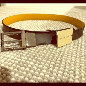 NWT Burberry Belt - Black/Brown Reversible $335